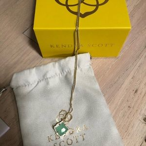 Kendra Scott Kacey Long Pendant Necklace in Aqua
